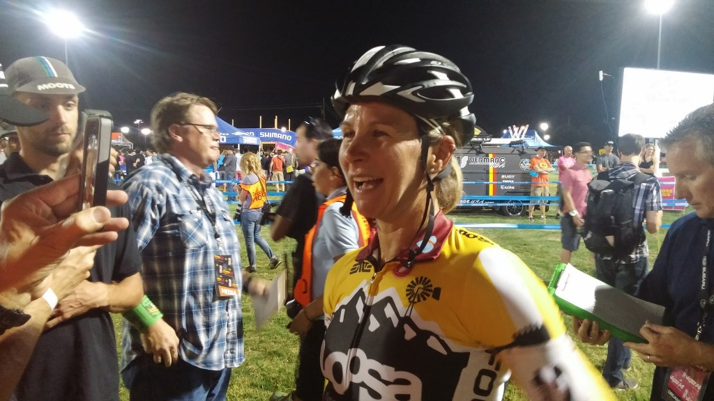 Meredith Miller after her CrossVegas 2014 win